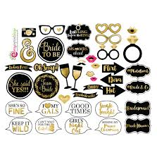 Props For Photo Booth 41 Funny Bachelorette Bridal Shower Photo Booth Props Gold