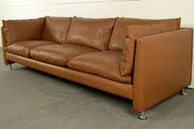 Mid Century Modern Leather Sofa Vintage Swedish Mid Century Modern Leather Sofa At Mid