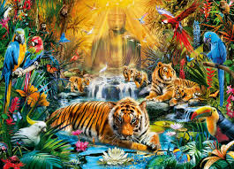mystic tigers jigsaw puzzle puzzlewarehouse com
