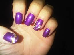 simple purple nail art designs how you can do it at home