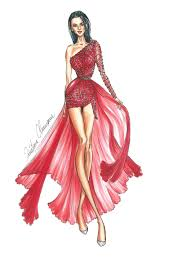 fashion illustration how to draw an embroidered dress youtube