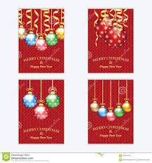 poster for new year with christmas decorations on the knitted