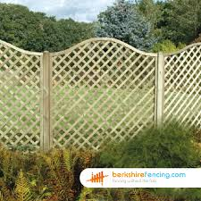 omega lattice fence panels 4ft x 6ft brown berkshire fencing