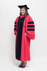 doctoral gown crimson phd regalia phinished gown