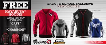 free hayabusa hoodie with purchase of both hayabusa cast and