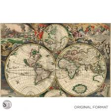 antique map of world 1689 wall mural graphicsmesh antique map of world 1689 wall mural