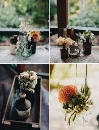 Mismatched Vases Wedding Australian Apple Orchard Wedding Lauren Glenn Green Wedding