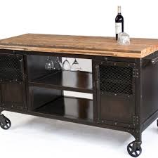 industrial iron wood kitchen trolley natural black buy kitchen home bars and bar carts custommade com