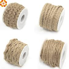 burlap ribbon new arrival 5yard hessian jute twine rope burlap ribbon