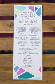 Modern Wedding Programs Creative Fig House La Wedding Colorful Wedding 100 Layer Cake