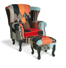Elegant Chairs For Living Room by Elegant Chair For Home Patchwork Wingback Chair Design