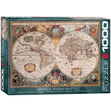 Map Of The World Art by Amazon Com Eurographics Antique World Map Puzzle 1000 Piece