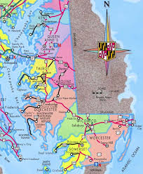 maryland map by city maryland eastern shore guide and maps