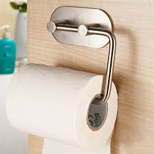 Toilet Paper Roll Storage Self Adhesive Sus 304 Stainless Steel Toilet Paper Holder Storage
