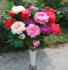 Fake Peonies Artificial Tulips Spring Artificial Flowers Home Decoration