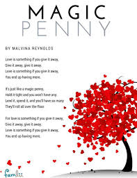 printable lyrics magic penny song love is something if you give it away famlii