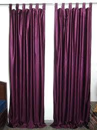 Purple And White Curtains Purple Drapes Mogul Curtains Solid Purple Drapes Panels Pair