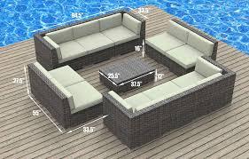 Sectional Patio Furniture Sets - amazon com urbanfurnishing net 11a burmuda biege 11 piece modern