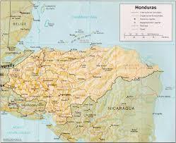 geographical map of guatemala honduras map and honduras satellite images