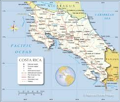 Map Of Latin America With Capitals by Detailed Map Of Costa Rica Nations Online Project