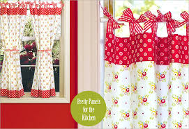 Curtains With Ties Kitchen Curtains With Ribbon Ties Sew4home