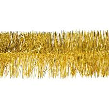 gold metallic tinsel garland stumps