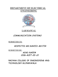 communication systems lab manual low pass filter electronic filter