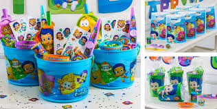 bubble guppies party favors stickers bubbles inflatables