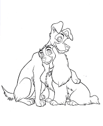 lady disney coloring page coloring pages kids
