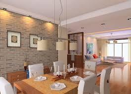astonishing brick wall design living room