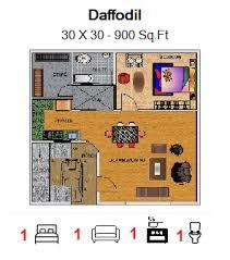 home design for 30 x 30 plot house bungalow construction floor plans house plans home plans