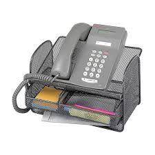 Wire Desk Organizer by Safco 2160bl Onyx Mesh Telephone Stand Desk Organizer Set Of 5