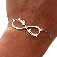 bracelet infinity images Two names infinity bracelet in sterling silver jpg