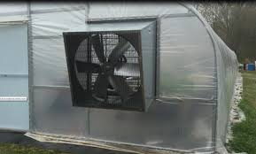 greenhouse exhaust fans with thermostat the snow arch greenhouse build part 8 installing the 42 inch slant