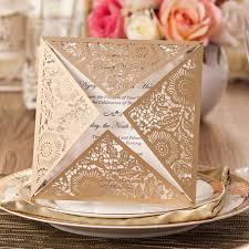 Cheap Party Invitation Cards Aliexpress Com Buy Laser Cut Wedding Invitations Kits Ivory