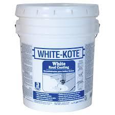 Sta Kool Elastomeric Roof Coating by Shop White Kote 5 Gallon Elastomeric Reflective Roof Coating 3