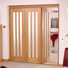 utah oak 3 folding doors left frosted glass 2078mm high