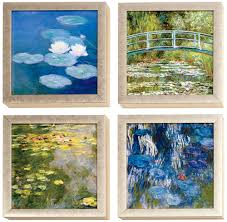 Home Interiors And Gifts Framed Art Claude Monet Water Lilies Framed Prints Set From The Met