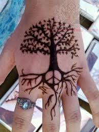 peace sign and tree on think ink peace