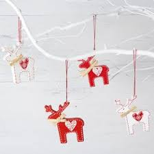 White Christmas Reindeer Decorations hearts and moose nordic pattern pinterest moose cross