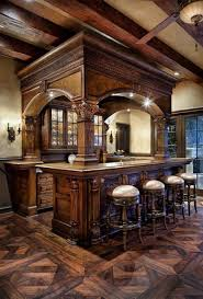 groovy rustic home bar decor also detailed wooden arch then rustic