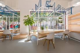 offices design a modern tourist office in spain featuring cool graphic typography