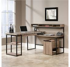L Shaped Desk On Sale by Sauder Transit Outlet Collection Multi Tiered L Shaped Desk 42 1