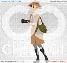 safari binoculars clipart clipart of a young safari woman carrying a camera royalty free