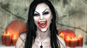 easy face makeup for halloween scary u0026 vampire makeup u2014 halloween face painting tutorial