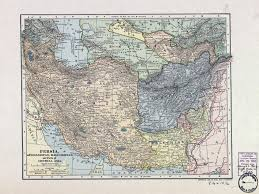 Persia Map Large Detailed Old Map Of Persia Afghanistan Baluchistan And