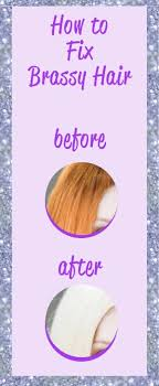 shimmer lights shoo before and after fix brassy hair at home fast and easy diy