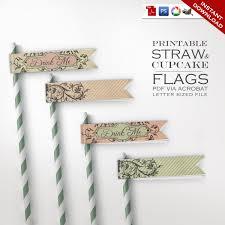 alice in wonderland straw flags printable diy drink me eat