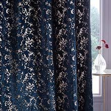 Gold And Blue Curtains Velvet Curtains West Elm