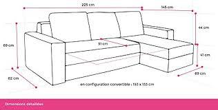 dimension canape d angle bestmobilier oakland canapé d angle convertible réversible